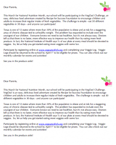 VegOut Parent Letter