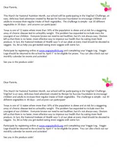 VegOut Parent Letter